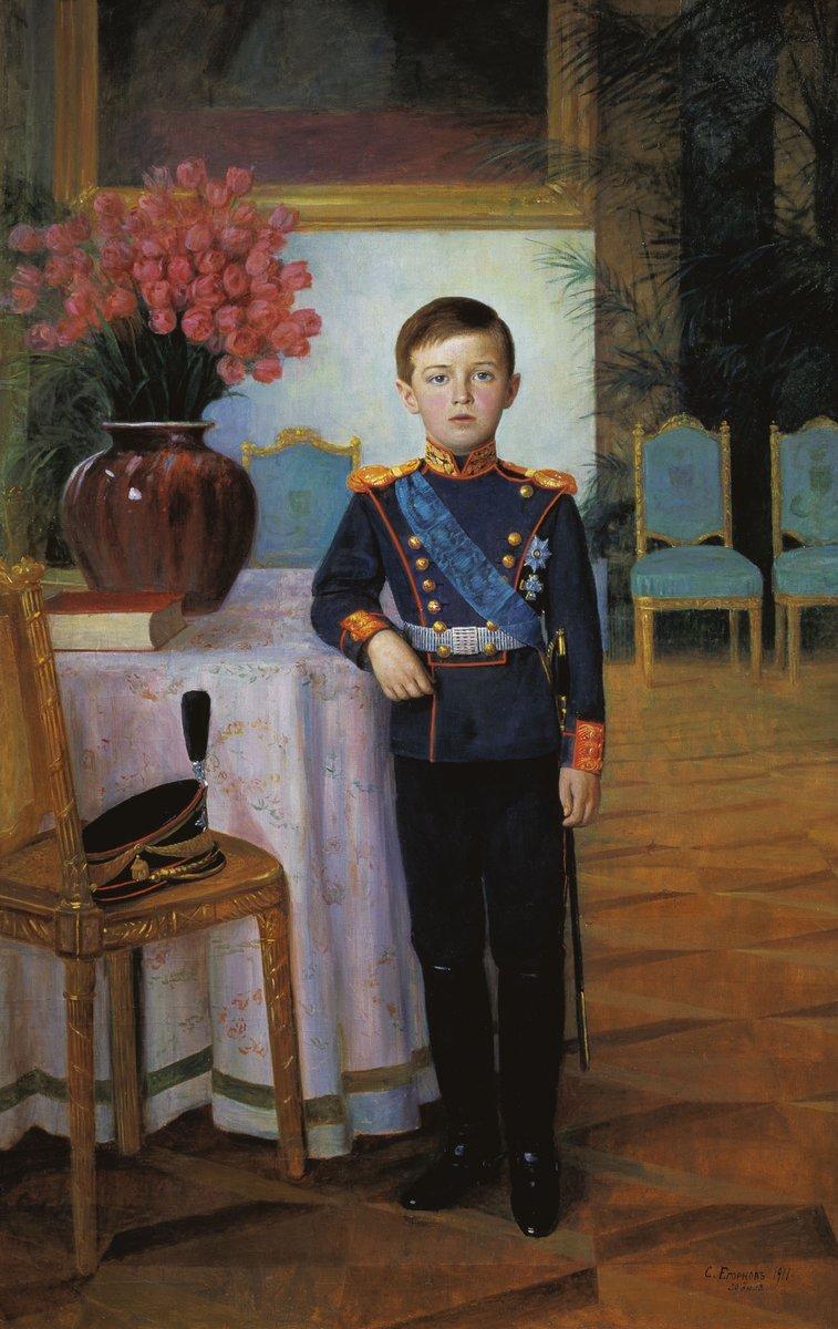 Егорнов Сергей Семенович. Портрет Цесаревича Алексея Николаевича