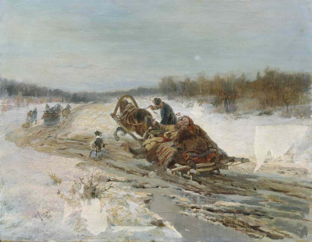 """Рудольф Федорович Френц """"Масленица"""", 1903"""