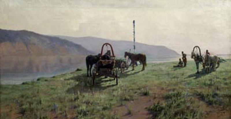 Головкин Константин Павлович. Переправа в Жигулях 1901