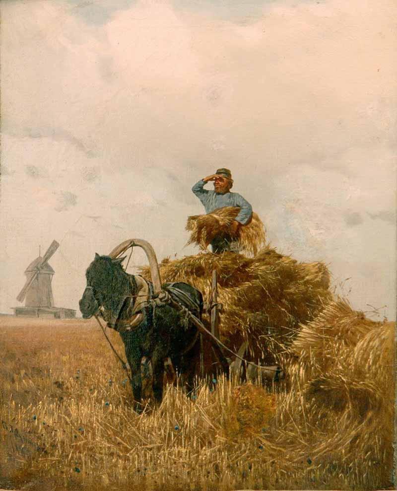 Картина урожай художник