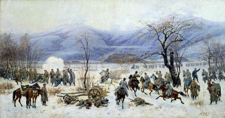 Обои Сражение у Шипки-Шейново 28 декабря 1877 года, холст, Сражение при Шейново, масло., Русско-турецкая война (1877—1878), Алексей КИВШЕНКО. Разное foto 6