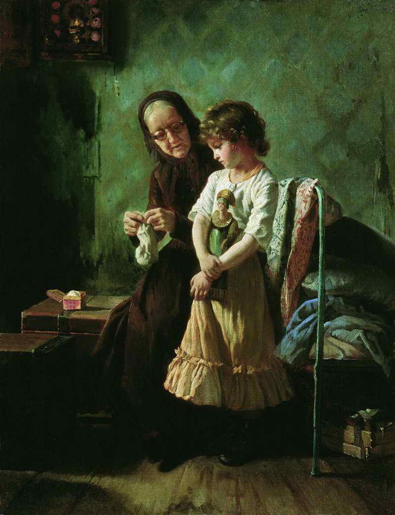 Старуха учит внука любви 9 фотография