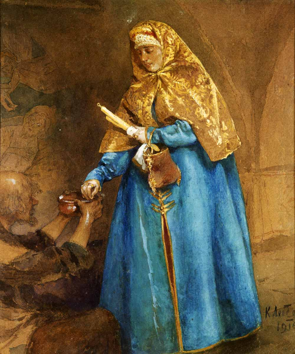 Народный костюм в живописи и графике