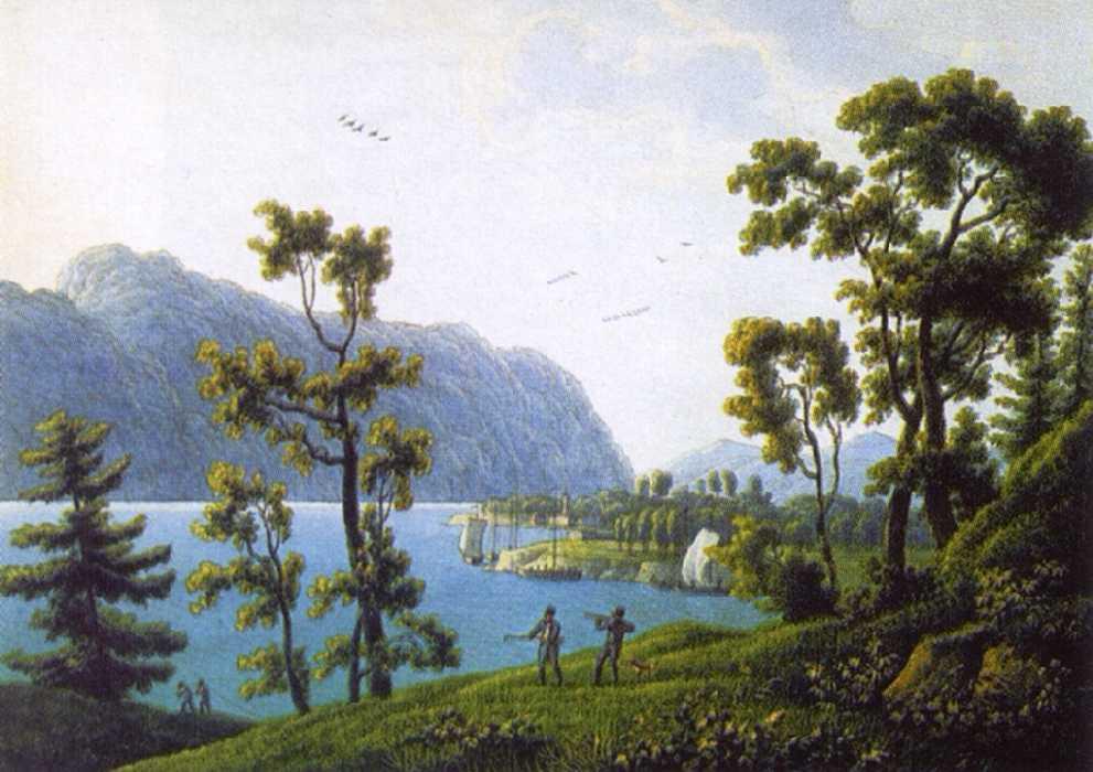 Мартынов Андрей Ефимович. Вид Никольского монастыря на Байкале