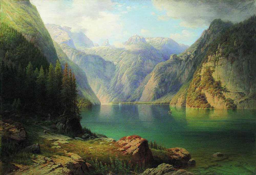 «Альпийский пейзаж» 1880-е. «