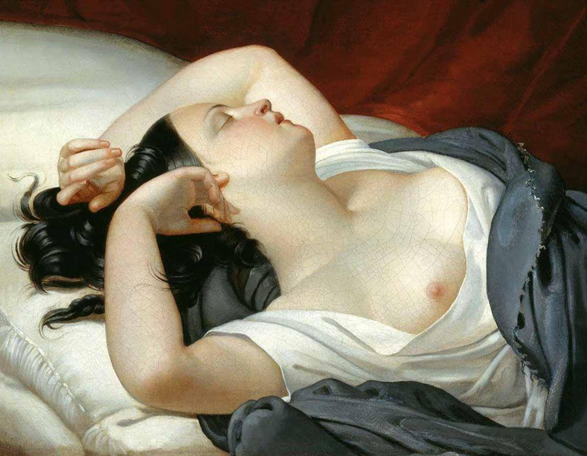 Фото одной спящей дамы
